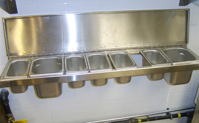 Custom Stainless Steel Condiment Station