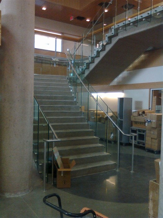 custom stainless steel handrails.