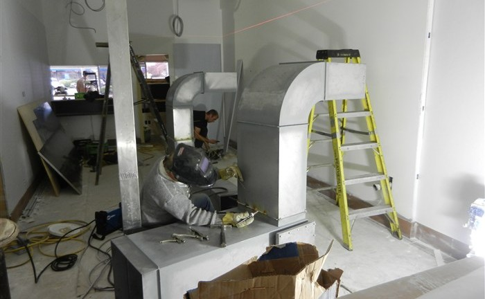Restaurant - constructing venting
