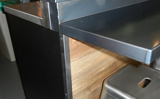 Custom Black Steel Countertop bar