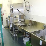 stainless steel dish pit
