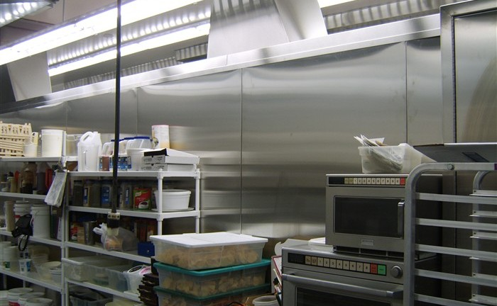 Restaurant custom stainless steel ventilation